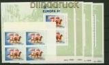 Portugal  Azoren 4 x Mi # 342 und 4 x Block  2 postfrisch Europa 1981 (34764)