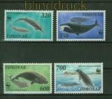 Faröer Mi # 203/03 WWF Wale im Nordatlantik postfrisch (41376)