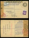 Großbritannien EU 66 mit Zusatzfrankatur Devisenkontrolle 1958 (41377)