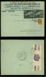 Ungarn Mi # 695 (2) und 712 auf Auslands-Brief mit ungarischer Zensur (40320)