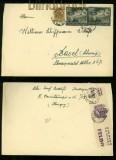 Ungarn Mi # 695 (2) und 712 auf Auslands-Brief mit ungarischer Zensur (40322)