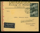 Ungarn Mi # 695 (2) auf Auslands-Brief mit deutscher Zensur 1943 (40324)