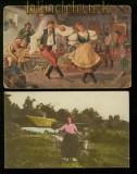 Ungarn Lot von 8 unterschiedlichen Karten Künstlerkarten Csárdás (40338)