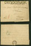 Dienst-Brief Rheine nach Schepsdorf bei Lingen 1854 (40999)