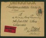 Feldpost 1. Weltkrieg Mi # 88 II EF auf Eilboten-Feldpostbrief 1917 (41096)
