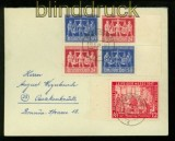 All. Besetzung Gemeinschaftsausgabe Mi # VZd 1 Ortsbrief 10fach 20.6.1948 (41152)