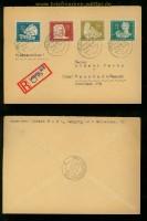 DDR Mi #  256/59 auf Satz-R-Brief Leipzig 17.6.1950 (34937)