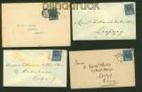 Großbritannien 4 Auslandsbriefe mit Mi # 89 nach Leipzig (41201)