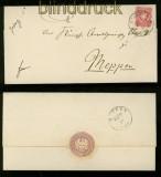 dt. Reich Mi # 33 EF Hannover nach Meppen 1877 (41632)