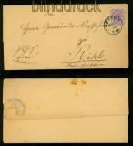dt. Reich Mi # 40 EF Meppen nach Rühle bei Meppen 1889 (41633)