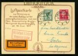 dt. Reich Luftpostkarte Postflug Werningerode - Goslar 1927 (41644)