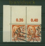 franz. Zone Württemberg Mi # 14 waagerechtes Paar gestempelt mit Leerfeld (34841)