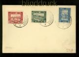 Polen Stadtpost Luboml Mi # II, III und IV gestempelt auf Vorlageumschlag (35094)