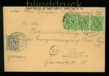 Bi-Zone AM-Post Mi # 12 (3) und # 11 auf Ortsbreief Leer 1946 (35107)