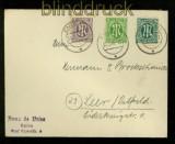 Bi-Zone AM-Post Mi # 12, 17 und 25 auf Fernbrief Emden 1946 (35108)