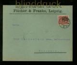 dt. Reich Mi # 340 vom Ersttag 01.12.1923 auf Fernbrief Leipzig RRR !!!!(41326)