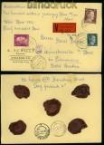 dt. Reich Mi # 783, 795 und 797 auf NN-Wert-Brief Strassburg 1944 (40245)
