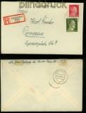 dt. Reich Mi # 788 und 794 auf Einschreiben Ludwigshafen 1943 (40247)