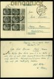 dt. Reich Mi # 512 (6) MeF auf Postkarte Liegnitz 1940 (40256)