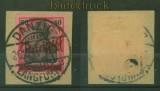 Danzig Mi #  40 gestempelt auf Briefstück geprüft Gruber BPP (35187)