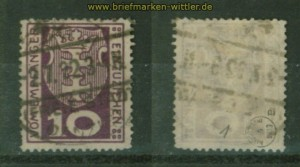 Danzig Porto Mi # 1 a gestempelt geprüft Infla Berlin (35214)