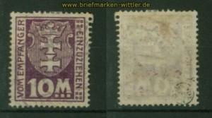 Danzig Porto Mi # 21 Y gestempelt geprüft Infla Berlin (35215)