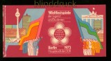 DDR MH Mi # 7/4 postfrisch Weltfestspiele 1973 (34528)