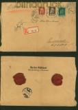 Bayern Mi # 77, 78 und Mi # 80 auf Einschreiben Wasserburg Blanko-R-Zettel (41342)