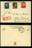 Danzig Mi # 261/63 Schoppenhauer auf Satz-R-Brief Danzig 1938 SSt. (35003)