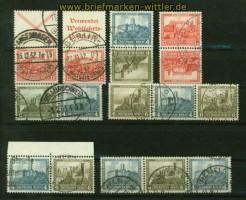 dt. Reich Zusammendrucke kplt. aus MH 31 gestempelt (41495)