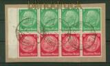dt. Reich Heftchenblatt Mi # 77 B gestempelt auf Briefstück (41526)