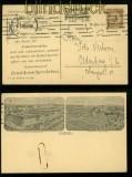 dt. Reich Mi # 338 EF mit Perfin Firmendrucksachenkarte 1924 (35139)