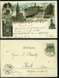 Straßburg farb-Litho-AK Gruss aus ..... 6 Ansichten 1897 (d5893)