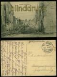 Nomeny sw-AK Strassenansicht 1. Weltkrieg Feldpost 1915 (d5895)