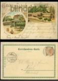 Karlsbad farb-Litho-AK 2 Ansichten 1899 (a1059)
