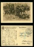 dt Feldpost 1. WK sw-AK Reitergefecht 1916 (d0029)