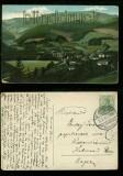 Görbersdorf in Schlesien farb-AK Totalansicht 1912 (d5954)