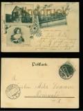 AHLDEN an der Aller sw-AK 3 Ansichten 1902 (d5920)