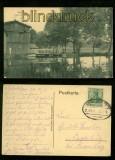 SCHOKKEN sw-AK Partie an der Mühle Bahnpost 1913 (d6413)