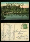 BEUTHEN farb-AK Promenade mit Hügel Bahnpost 1924 (d6417)