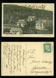 BAD FLINSBERG im Isergebirge  sw-AK Unterm Moltkeplatz 1926 (d6420)
