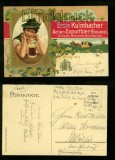 Erste Kulmbacher Actien-Exportbier-Btauerei farb-Präge-AK Gruss aus.... 1916 (d6429)