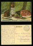 Steinhäger Urquell farb-AK H.C. König Steinhagen Feldpost 1914 (d6439)