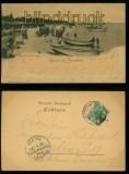 ZINNOWITZ sw-AK Grus aus.... Damenbad mit Strand 1899 (d5955)