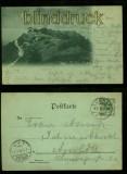 JENA sw-AK Fuchsturm Mondscheinkarte 1898 (d5997)