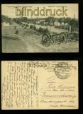 Truppenübungsplatz WARTHELAGER sw-AK Südlicher Lagereingang Feldpost 1915 (d0006)