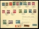 Böhmen und Mähren Mi # 1/19 auf Satz-LuPo-Eil-R-Brief Prag 29.7.1939 (42185)