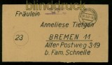VILLINGEN Gebühr bezahlt Fernbrief 7.3.1947 (35455)