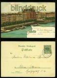 Hamburg farb-AK Alter Jungfernstieg 1900  (d6705)