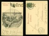 Altona-Ottensen sw-AK Elbschlucht an der Elbe Gustav Harrer 1899 (d6715)
